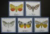 Poštovní známky Německo 1992 Motýli Mi# 1602-06