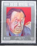 Poštovní známka Mexiko 1986 Diego Rivera, malíř Mi# 2009