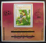 Poštovní známka Togo 1980 MS ve fotbale přetisk Mi# Block 167