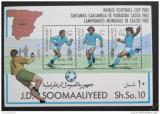 Poštovní známky Somálsko 1982 MS ve fotbale Mi# Bl 12