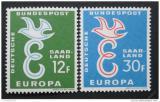 Poštovní známky Sársko 1958 Evropa CEPT Mi# 439-40
