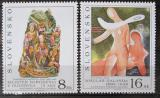 Poštovní známky Slovensko 1995 Umění Mi# 243-44