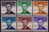 Poštovní známky Rwanda 1965 Abraham Lincoln Mi# 97-102
