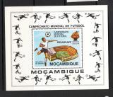Poštovní známka Mosambik 1981 MS ve fotbale Mi# Block 9
