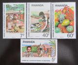 Poštovní známky Rwanda 1987 Soběstačnost s potravinami Mi# 1362-5