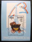 Poštovní známka Kambodža 1989 Poštovní dostavník Mi# Block 169