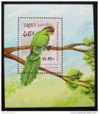 Poštovní známka Kambodža 1989 Papoušek Mi# Block 164