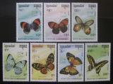 Poštovní známky Kambodža 1989 Motýli Mi# 1075-81