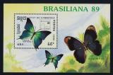 Poštovní známka Kambodža 1989 Motýli Mi# Block 170