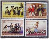 Poštovní známky Kongo 1976 Americká revoluce Mi# 557-60