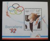 Poštovní známka Kambodža 1990 LOH Bacelona Mi# Block 174