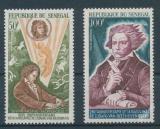 Poštovní známky Senegal 1970 Ludwig van Beethoven Mi# 434-35