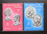 Poštovní známky Jersey 1978 Královský pár Mi# 185-86