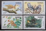 Poštovní známky Rwanda 1985 Ptáci, Audubon Mi# 1310-13