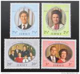 Poštovní známky Jersey 1972 Královská svatba Mi# 73-76