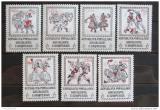 Poštovní známky Albánie 1977 Lidové tance a kroje Mi# 1918-24