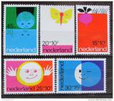 Poštovní známky Nizozemí 1971 Dětské ilustrace Mi# 969-73