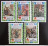 Poštovní známky Laos 1987 Umění, VŘSR Mi# 1050-54