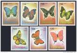 Poštovní známky Nikaragua 1986 Motýli Mi# 2717-23
