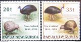 Poštovní známky Papua Nová Guinea 1990 Ptáci, Nový Zéland Mi# 620-21