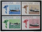 Poštovní známky Faerské ostrovy 1977 Rybářské lodě Mi# 24-27