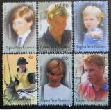 Poštovní známky Papua Nová Guinea 2003 Princ William Mi# 989-94