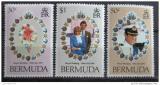 Poštovní známky Bermudy 1981 Královská svatba Mi# 401-03