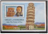 Poštovní známka Dominika 1991 Věž v Pise Mi# Block 186