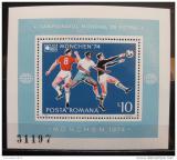 Poštovní známka Rumunsko 1974 MS ve fotbale Mi# Block 114