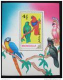 Poštovní známka Mongolsko 1990 Papoušci Mi# Block 155