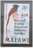 Poštovní známka Malawi 1971 Pták přetisk Mi# 143
