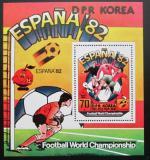 Poštovní známka KLDR 1981 MS ve fotbale Mi# Block 93