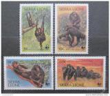 Poštovní známky Sierra Leone 1983 Šimpanzi, WWF Mi# 713-16