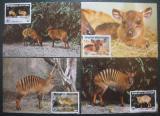 Maxikarty Pobřeží Slonoviny 1985 Antilopa, WWF 031 Mi# 881-84
