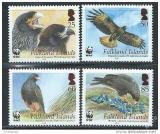 Poštovní známky Falklandské ostrovy 2006 Ptáci, WWF 395 Mi# 976-79