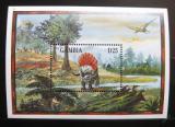 Poštovní známka Gambie 1995 Spinosaurus Mi# Block 247