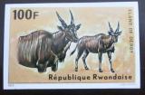 Poštovní známka Rwanda 1975 Antilopa, neperf. Mi# 680 B Kat 25€
