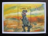 Poštovní známka Gambie 1995 Tyrannosaurus Mi# Block 246