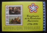 Poštovní známky Togo 1976 Americká revoluce neperf. Mi# Block 101B  Kat 45€