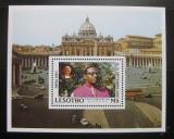 Poštovní známka Lesotho 1988 Návštěva papeže Mi# Block 51