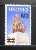 Poštovní známka Lesotho 1980 Král Moshoeshoe přetisk Mi# 307