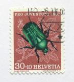 Poštovní známka Švýcarsko 1957 Cetonia aurata Mi# 651