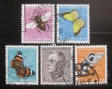 Poštovní známky Švýcarsko 1950 Hmyz Mi# 550-54 Kat 37€