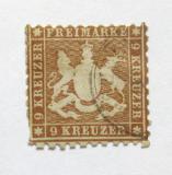 Poštovní známka Wurttemberg 1863 Erb, tmavá Mi# 28 Kat 68€