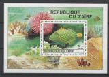 Poštovní známka Kongo Dem., Zair 1980 Baliste ondule Mi# Block 38