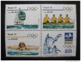 Poštovní známky Brazílie 1991 LOH, Sporty Mi# 2404-06