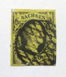Poštovní známka Sasko 1851 Frederick Augustus II Mi# 6 Kat 45€