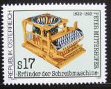 Poštovní známka Rakousko 1993 Starý psací stroj Mi# 2088