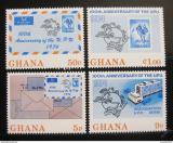 Poštovní známky Ghana 1974 Výročí UPU Mi# 548-51