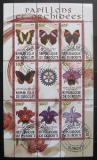 Poštovní známky Džibutsko 2010 Motýli a orchideje